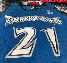 Vintage Vtg 03 Minnesota Timberwolves Kevin Garnett Nbajersey Reebok | Grailed Vintage Basketball Jerseys, Kevin Garnett, Minnesota Timberwolves, Vintage Tops, Reebok