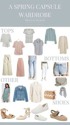Build a colorful spring capsule wardrobe - 30 outfit ideas for spring @prettyinthepines