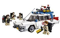 LEGO Ghostbusters ECTO-1 Peter Venkman, Ray Stanz, Winston Zeddemore and Egon Spenglar as LEGO figure....Bringing back the eighties and let juniors and seniors enjoy ghostbusters darumbinichblank.de