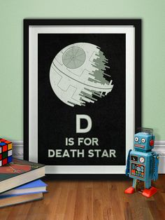 Death Star Art Printable Star Wars Poster Jedi Sith by pikselmatic, $5.00