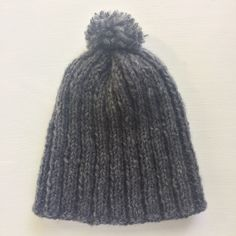 Gray wool cap for adult man or woman.  100% handmade. 30º wash