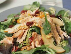 Salade de mesclun, poulet et câpres - Les recettes minceur de Valérie Orsoni - Femme Actuelle