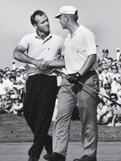 Jack Nicklaus and Arnold Palmer During National Open Tournament