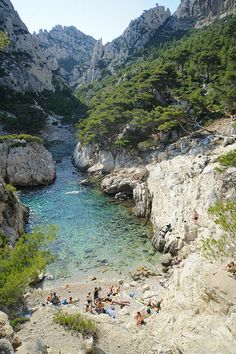 Calanque de Sugiton is one of the numerous calanques located between Marseille and Cassis. Beautiful Places To Visit, Great Places, Places To See, Vacation Places, Places To Travel, Provence France, Rhone, South Of France, France Travel