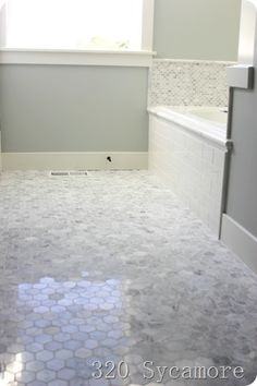 Inch Hexagon Carrara Marble Tile K Pictures K Pictures Full - 36 inch marble tile