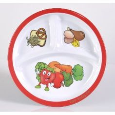 Kids' portion control plate... $6.49 on Amazon & eligible for Free Super Saver shipping!