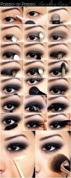 Perfect Black Smoky Eye Makeup Tutorials