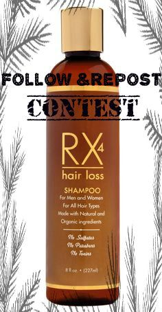 Follow Rx4 hair care and repost this photo for you a chance to win Rx4 Hair Loss Shampoo. Our 1000th Follower will be the lucky winner.