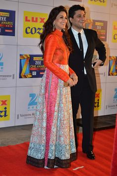 Glamour always. Sonali at Zee cine awards.