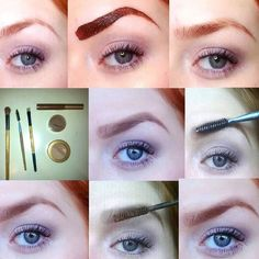 Redhead brow tinting tutorial for red hair, auburn hair and strawberry blondes. Kinda want to do this haha.