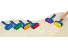 Big Track Sand Rollers Set of 6. Easy-grip rollers leave big impressions.