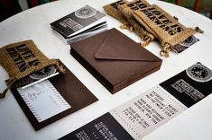Coffee themed party invite - what?! Genius!