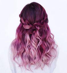Sugar High series:  Raspberry Yum Yum  Colour and braid done by me on @evalam_  #FUCKBADHAIR #SUGARHIGHSERIES #hotonbeauty #hairstyles #vancouverhair #behindthechair #modernsalon #b3 #brazilianbondbuilder Dreadlocks, Headbands, Long Hair Styles, Makeup, Beauty, Fashion, Hairdos, Make Up, Beleza