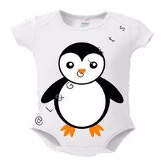 Penguin Baby Bodysuit or Toddler Tee