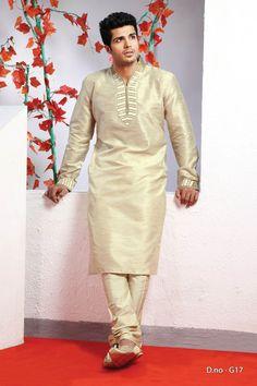 Beige Poly Dupion Readymade Kurta with Churidar  http://www.silk-india.com/en/82-kurta-pajama 45.95$ 45.95$  Now, place your Order now : Email:- raksha@silk-india.com
