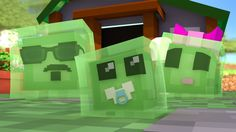 Minecraft: WHO'S YOUR DADDY FAMILY? - BEBÊ SLIME E SUA FAMÍLIA!  (Baby S...