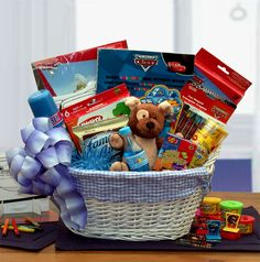 Disney Cars Theme Fun & Games Gift Basket