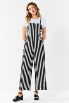df82c91e35d3 Shop UO Square-Neck Striped Jumpsuit at Urban Outfitters today. We carry  all the