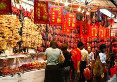 Meat delicacies for Chinese New Year, Singapore by Alex Howen