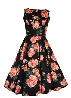 Lovely and blowsy, with a gorgeous swing skirt - fabulous dress