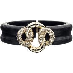 Alexis Bittar Mod Gold Large Knot Bracelet ($138) ❤ liked on Polyvore featuring jewelry, bracelets, accessories, black, mod jewelry, carved jewelry, alexis bittar bangle, ribbon jewelry and yellow gold jewelry