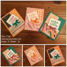 Playful Palette Thank you cards - handmade by Paola Phillips
