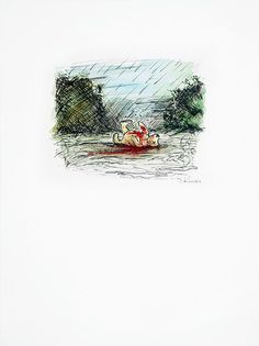 James Rawson. Severed. Pen and watercolour on paper. Original. £250 #jamesrawson #severed #winniethepooh #pooh #zombies #drawing #painting #art #brighton #nowallsgallery