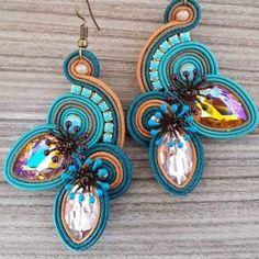 Soutache Earrings, Shibori, Board, Searching, Soutache Jewelry, Pictures