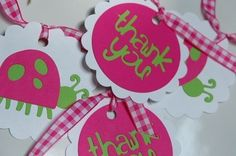 Hot Pink & Lime Green LADYBUG Party Pack