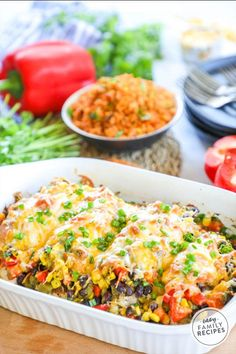 Baked Southwest Chicken Casserole · Easy Family Recipes