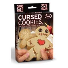 Cursed Cookies - voodoo doll cookie cutter