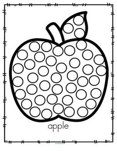 Fall apple dot marker activity. #applesprintable #preschool #kindergarten Preschool Apple Activities, Oral Motor Activities, Fun Classroom Activities, Fall Preschool, Preschool Themes, Autumn Activities, Preschool Learning, Preschool Activities, Preschool Kindergarten