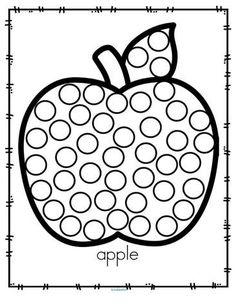 Fall apple dot marker activity. #applesprintable #preschool #kindergarten Preschool Apple Activities, Free Preschool, Preschool Themes, Autumn Activities, Preschool Worksheets, Toddler Activities, Preschool Activities, Preschool Kindergarten, Dots Free