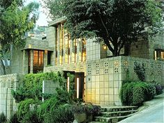Storer House / 8161 Hollywood Blvd., Los Angeles, CA / 1923 / Mayan Revival / Frank Lloyd Wright -- The house has 2,967 square feet with three bedrooms, a den, three bathrooms, staff wing and a spa.
