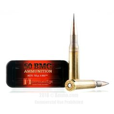Hornady 50 BMG Ammo - 10 Rounds of 750 Grain A-MAX Match Ammunition #50BMG #50BMGAmmo #Hornady #HornadyAmmo #Hornady50BMG #AMAXMatchAmmo