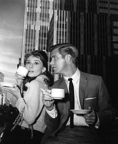 "Breakfast at Tiffany's, written by Truman Capote. Paul Varjak was played by George Peppard. Holly Golightly (played by Audrey Hepburn): ""It calms me down right away, the quietness and the proud look of it; nothing very bad could happen to you there, not with those kind men in their nice suits, and that lovely smell of silver and alligator wallets. If I could find a real-life place that made me feel like Tiffany's, then I'd buy some furniture and give the cat a name."""