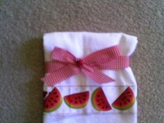 Flour Sack Dish Towel With Watermelons and Lady by ladyhawke2222