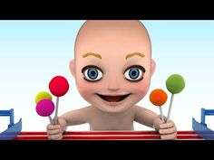 3D Baby doll bath time Play Learn colors - Teach colours for kids Children Toddlers - YouTube