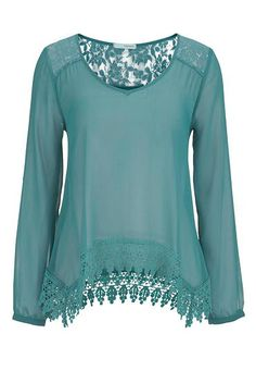 chiffon top with lac