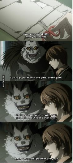 Apply water to burned area | Popular with the girls | From 9gag | Ryuk and Light | Death Note †