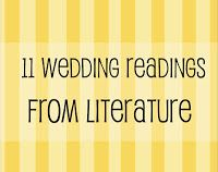 Wedding Readings From Books, Literature  Poetry