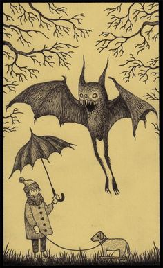 #umbrella #monster #illustration John Kenn Mortensen …