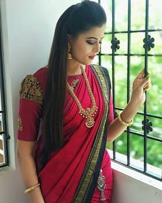 New Saree Blouse Designs, Simple Blouse Designs, Stylish Blouse Design, Bridal Blouse Designs, Traditional Blouse Designs, Sari Design, Designer Blouse Patterns, Latest Blouse Patterns, Photos
