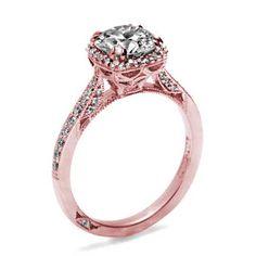 Tacori Rose Gold Pave Diamond Engagement Ring, love rose gold and love Tacori.....perfect!