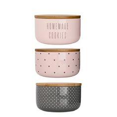 Pojemniki kuchenne Bloomingville szaro-różowe 3 szt. 14 cm