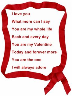 happy valentines day poem for my love