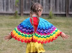 These beautiful, colorful, handmade costume wings are perfect for pretend and imaginative play. Watch your childs imagination come to life the