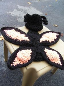 Crocheted Butterfly Cuddle Cape and Hat Set Newborn to 3 months Photo Prop Baby
