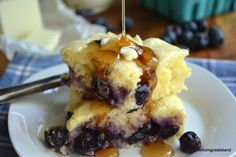 Buttermilk Blueberry Pancake Squares     ~~~ adapted from Big Red Kitchen  serves 4  oven 350F  3/4 cup buttermilk  2 Tbsp melted butter  1 large egg  3 Tbsp sugar  1 cup flour  2 tsp baking powder  1/4 tsp salt  1 cup fresh blueberries  20-25 minutes