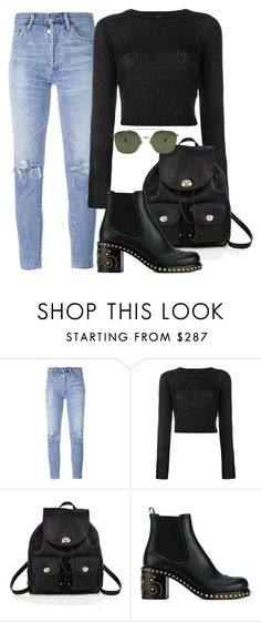 """Untitled #2533"" by camila-echi ❤ liked on Polyvore featuring Citizens of Humanity, Forte Forte, Coach, Miu Miu and Ahlem"